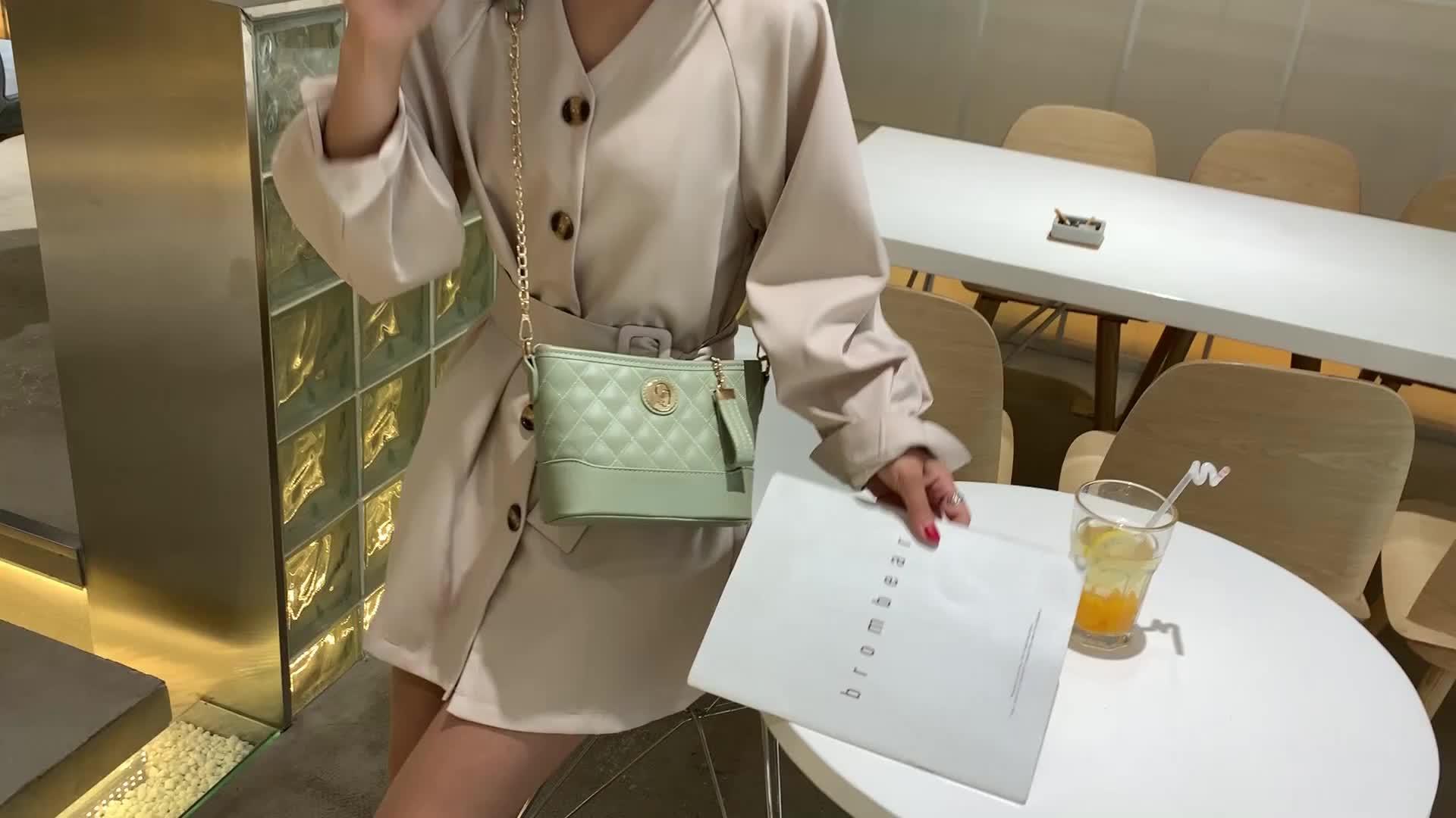 Luxury messenger bag ladies pu sling bag crossbody shoulder bag