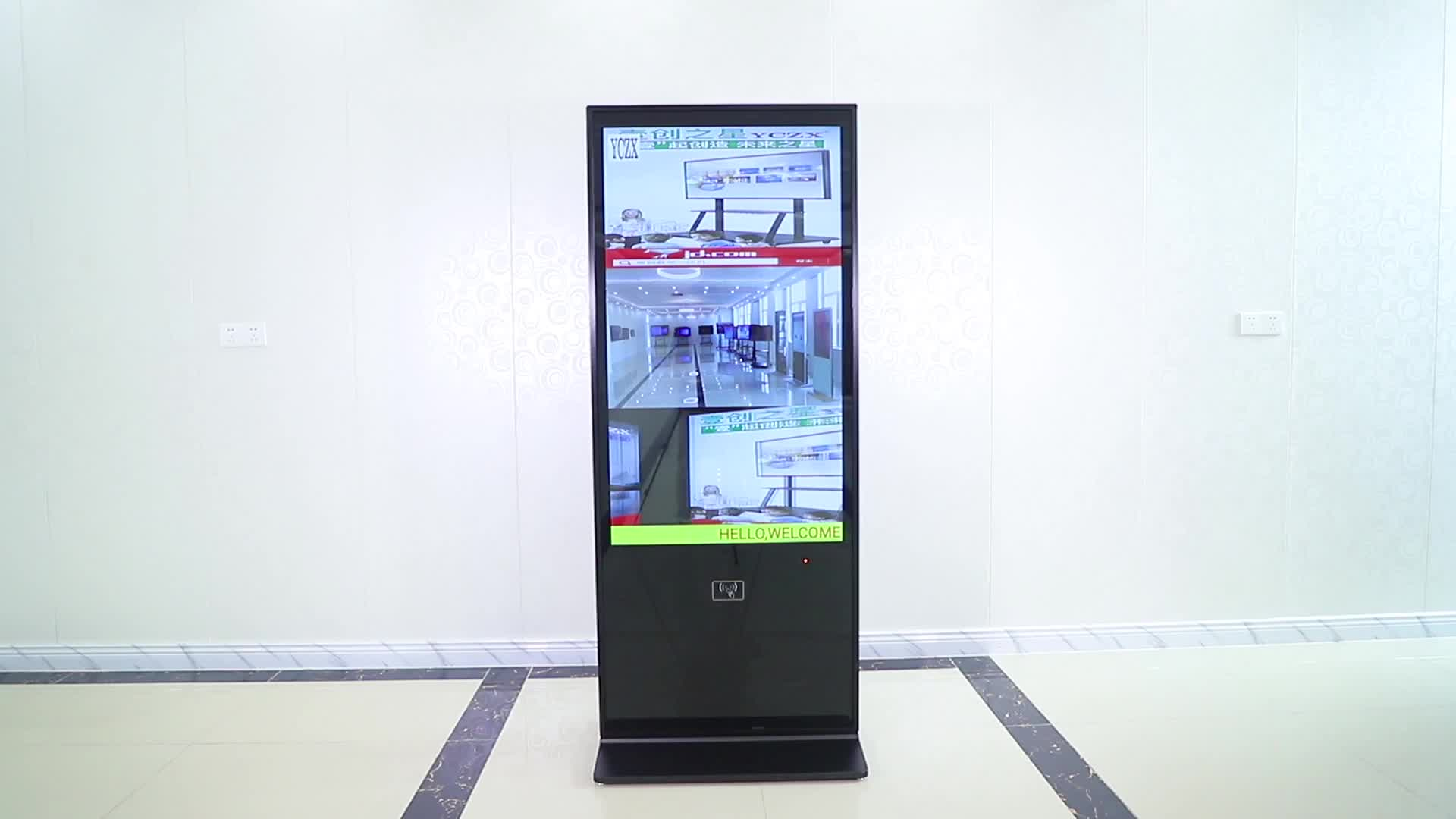 Volle fabrik preis 49 zoll vertikale boden stehen LED android werbung digitale signaged touch screen lcd display