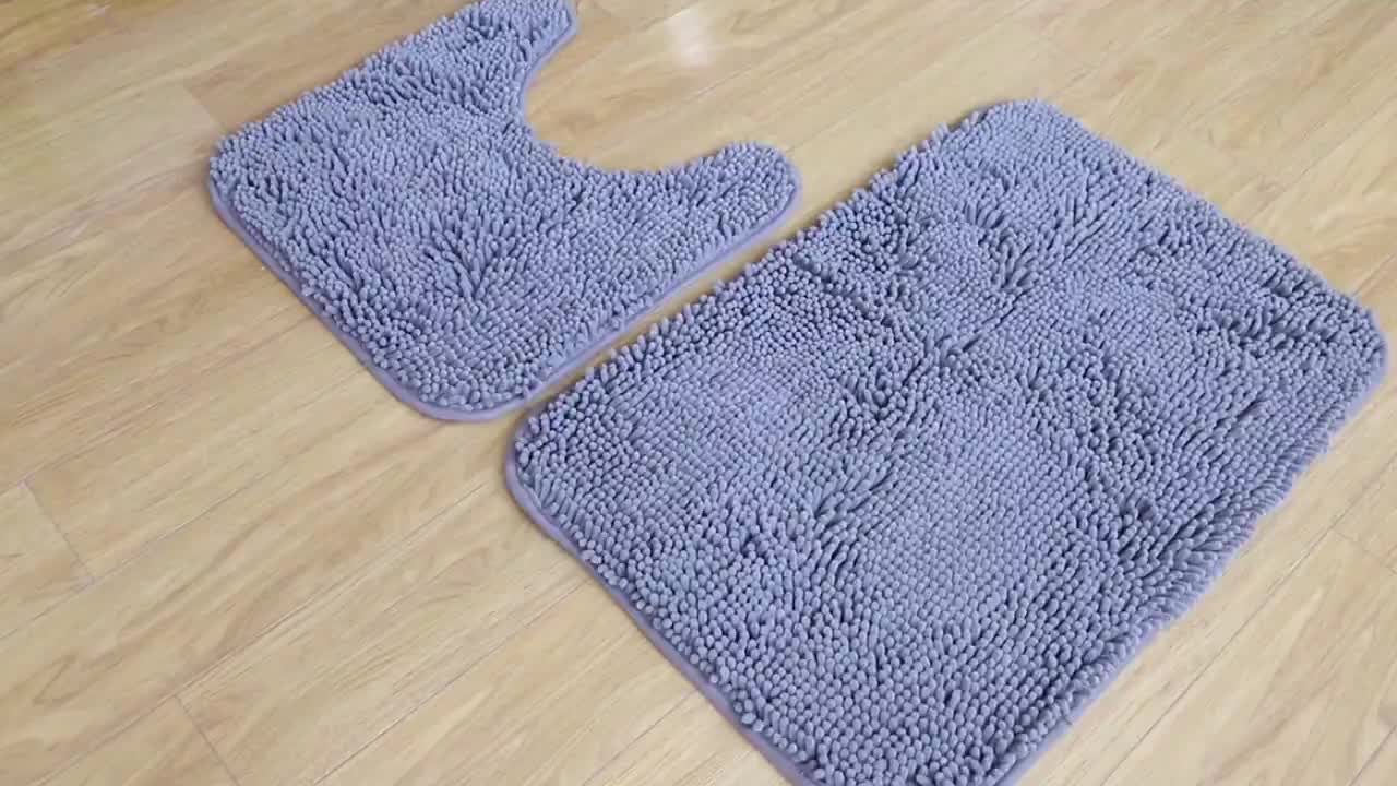 Sợi Nhỏ Có Thể Giặt Sang Trọng Sang Trọng Không Trượt Phòng Tắm Thảm Đối Với Vòi Hoa Sen Phòng Tắm