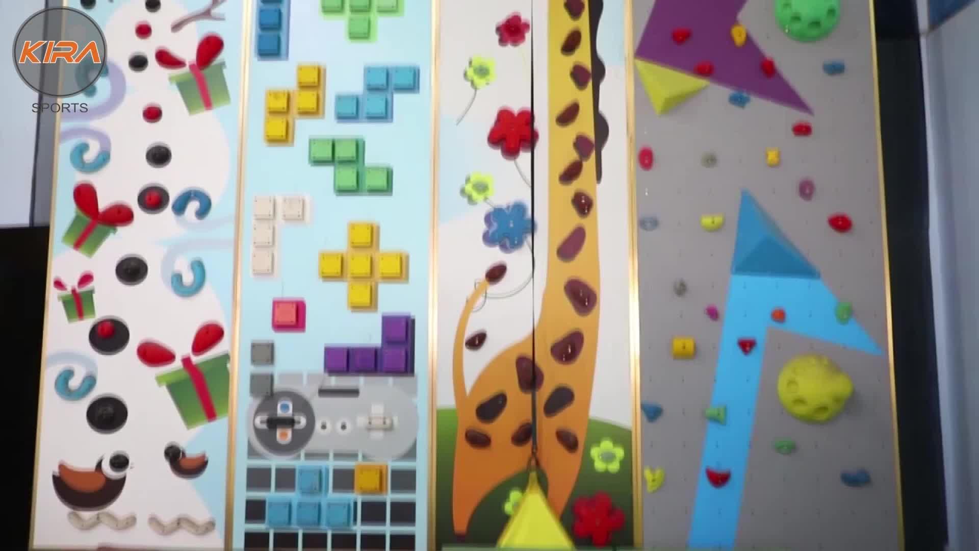 Nuovo prezzo basso di alta qualità per bambini divertimento all'aria aperta bambino artificiale di plastica Design di Interni Usato Portatile Arrampicata Su Roccia Della Parete per la vendita