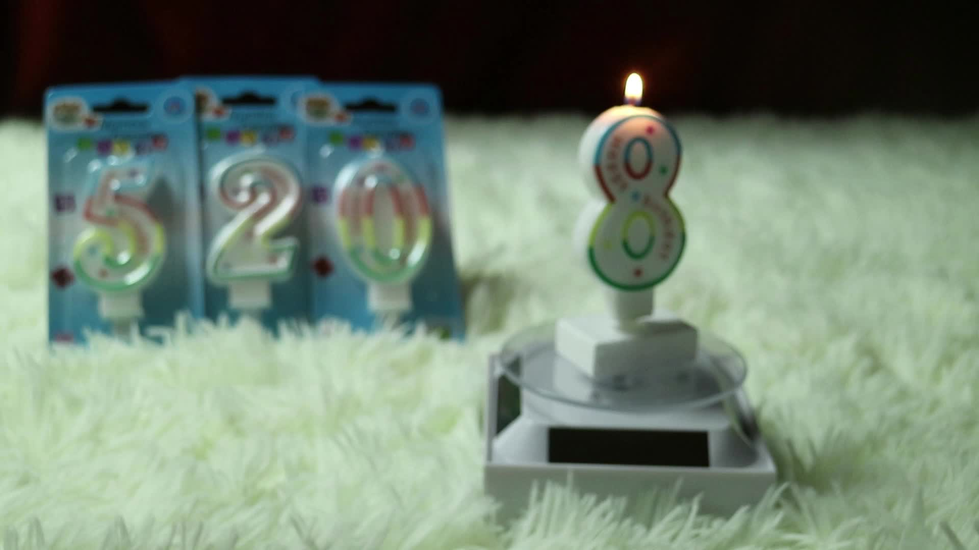 classical and decorative happy birthday number candle for sale