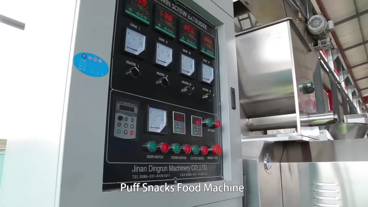 Snack food processing machinery twin screw extruder
