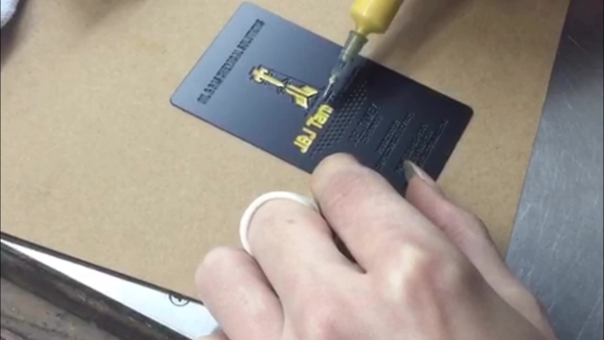 MDC1343 custom cheap metal business card