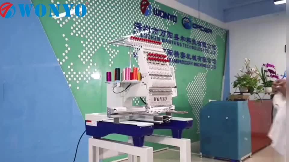 Única cabeça máquina de bordar computadorizada contas, t-shirt e vestuário acabado bordado para as vendas