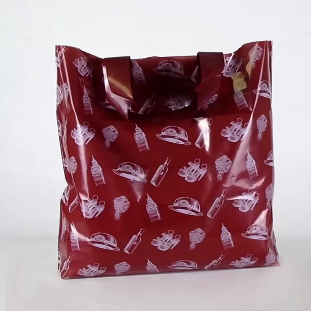 0.03mm Elke Grootte Transparante Hdpe Hd Flexiloop Custom Gedrukt Winkelen Voorraad Sample Aanbieding Zware Boodschappentassen Plastic