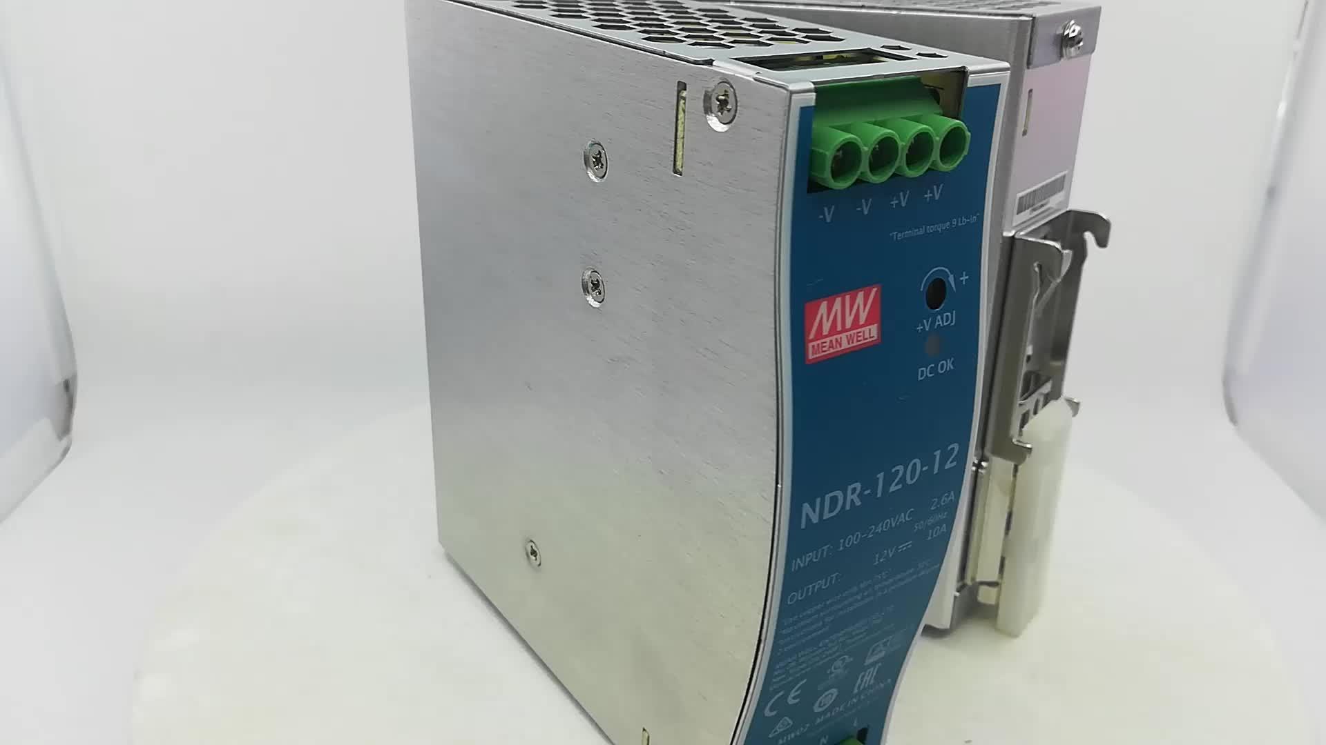 NDR-120-12 Originale Meanwell Uscita Singola Industriale Guida DIN AC/DC a DC Alimentazione Elettrica di Commutazione 120 W 12 V 10A