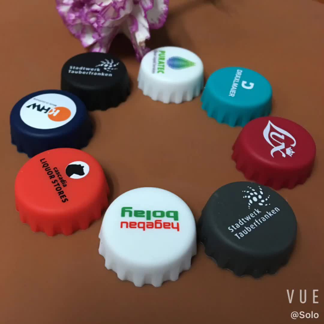 FDA Approved Safe Material Silicone Custom Beer Bottle Cap Saver Stopper