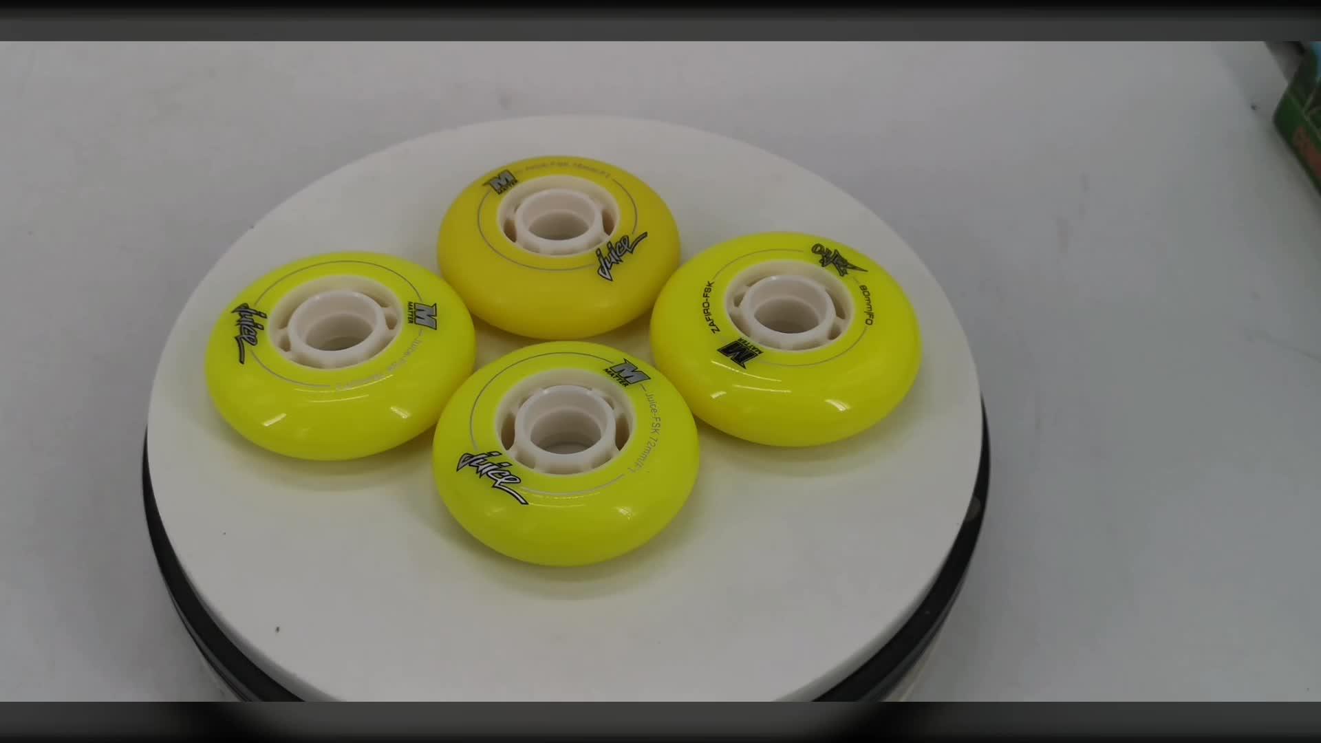 Roda de patinação de velocidade em linha 72mm/76mm/80mm Alta rebote rodas roller skate
