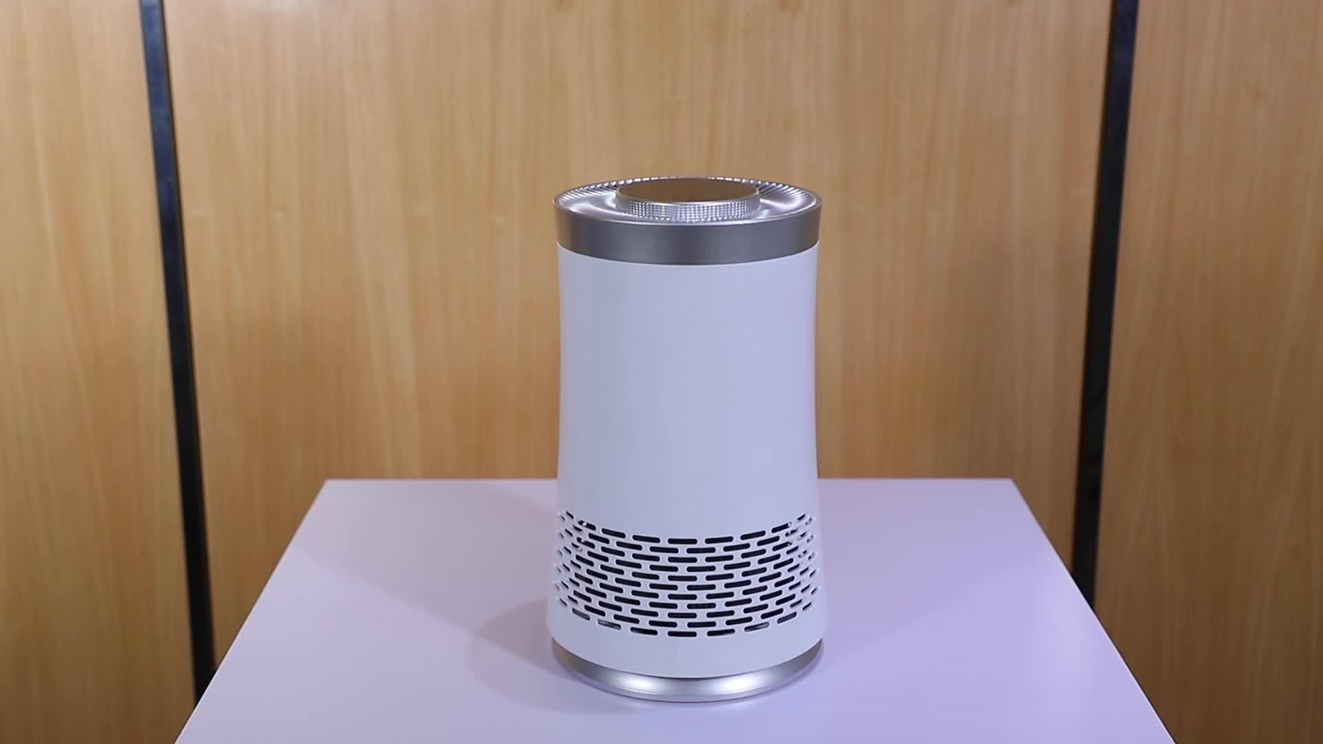 Cubierta de escritorio purificador de aire con filtro hepa