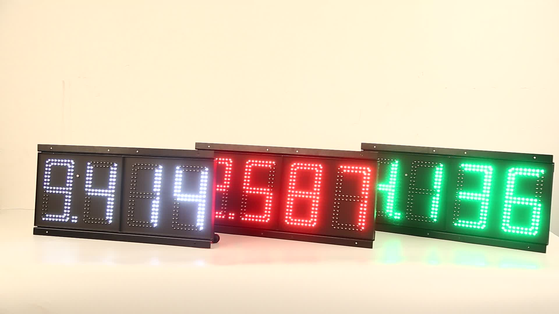 outdoor   double sided wireless gas station price led sign led gas price display