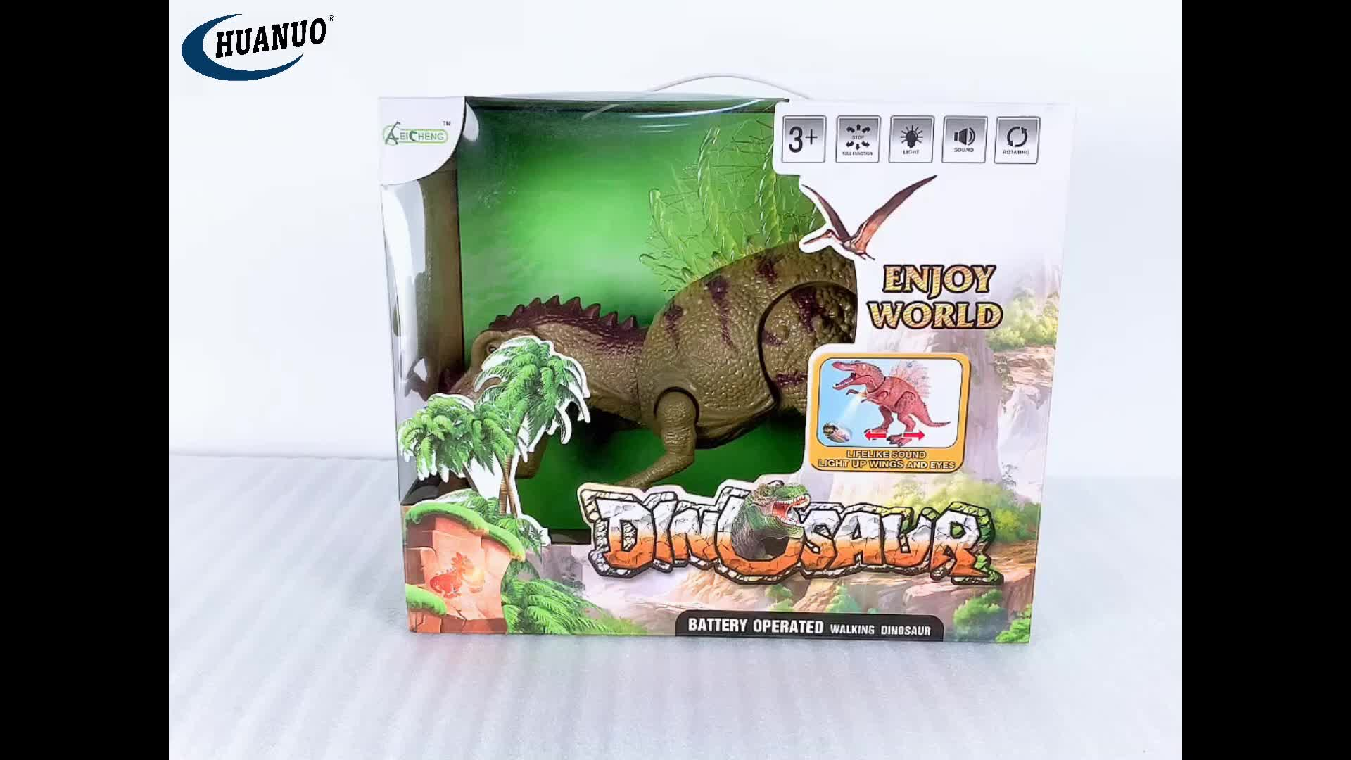 Kids toy plastic battery operated set electric projection walking dinosaur toys