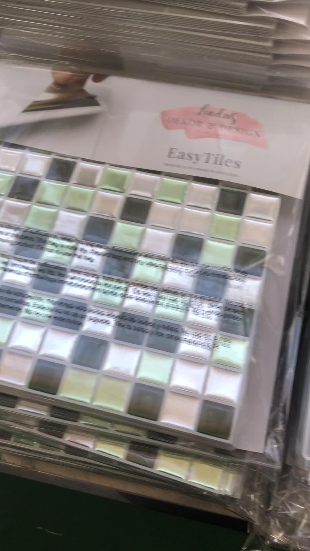 Interieur zelfklevende waterdichte mozaïek vinyl behang voor keuken backsplash