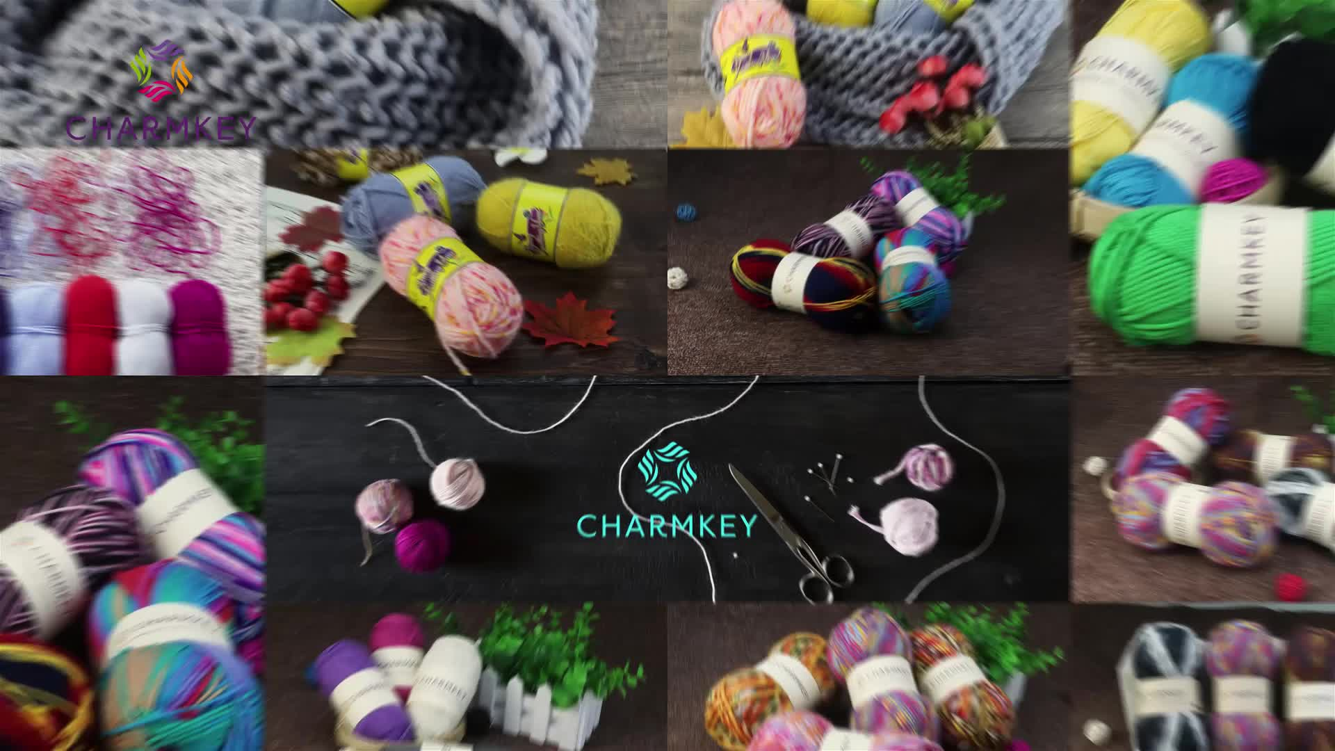 Charmkey manufacturer wholesale popular color crochet fancy wool yarn hand knitting for young lady