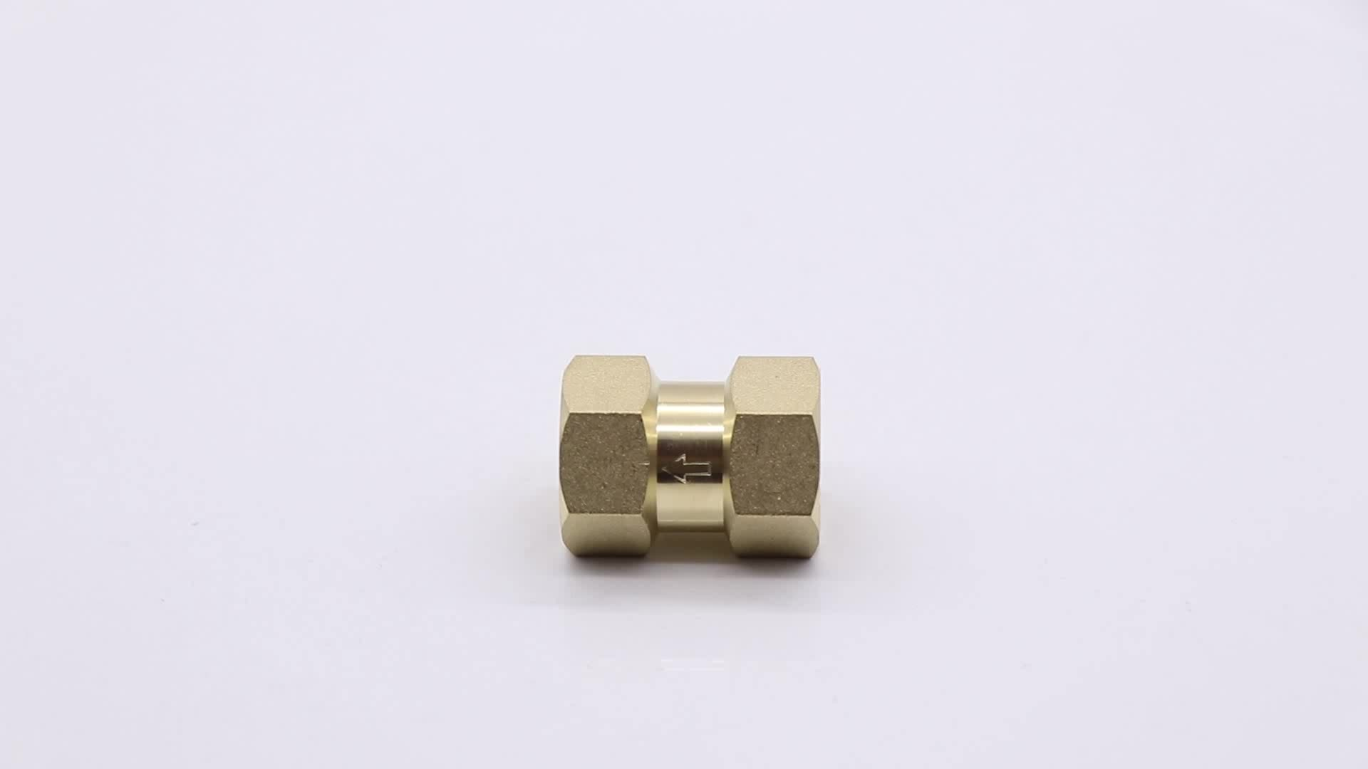 """One-way tube with double copper wire inside, in line with 1/2"""" 3/4"""" standard one-way valve cut-off valve brass check valve"""