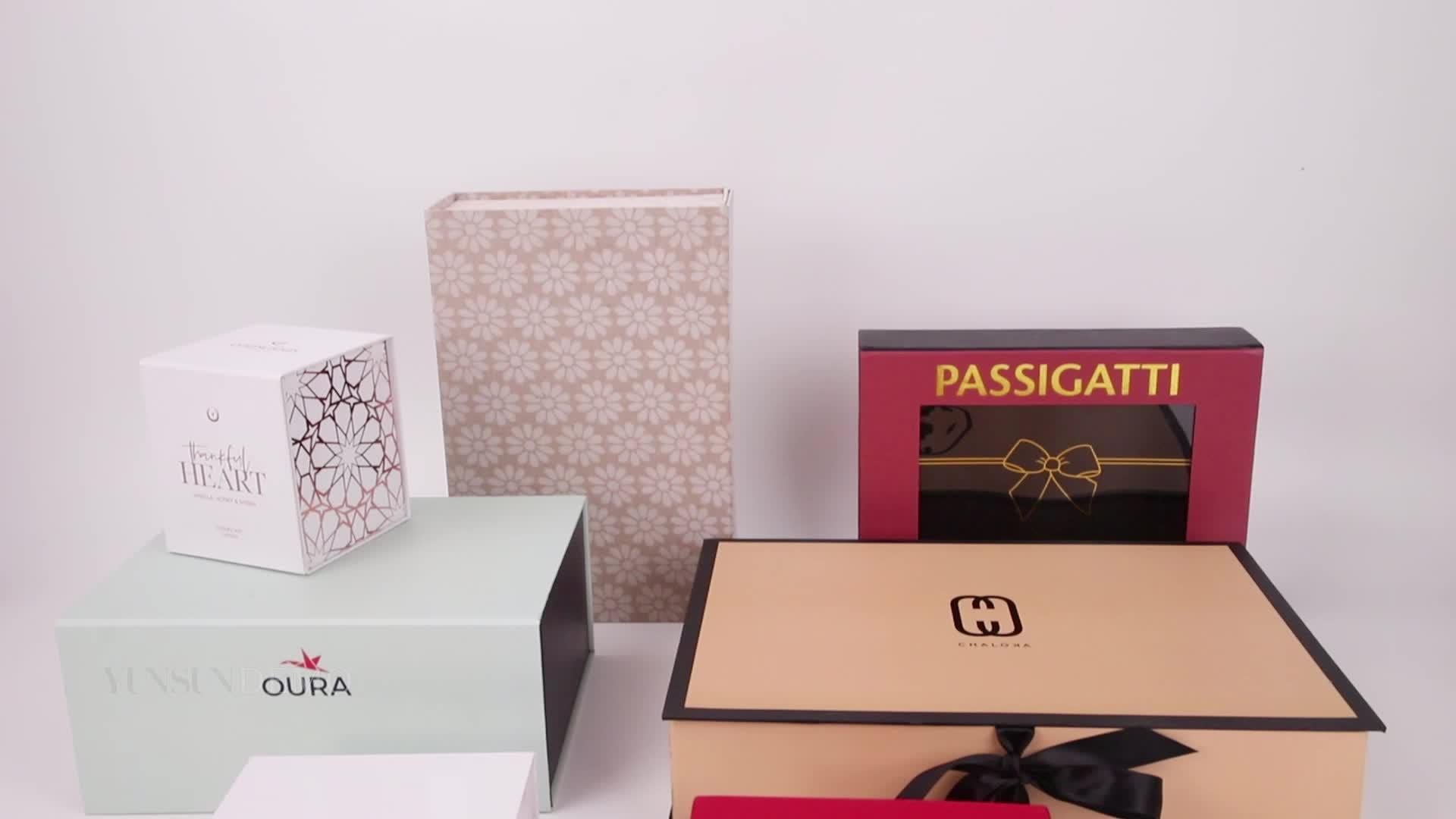 Nice & pretty cosmetic box folding paper box for jewelry perfume