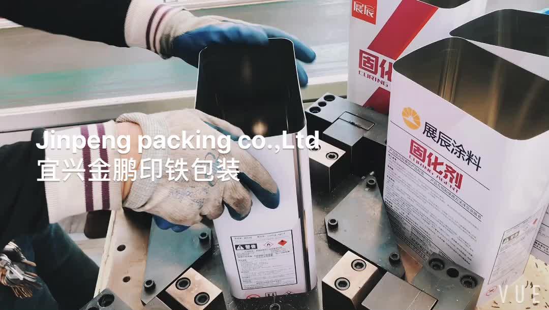 Her türlü kutu yapıştırıcı için Dikdörtgen Metal teneke kutu Plastik şişe kapağı kimyasal kutular
