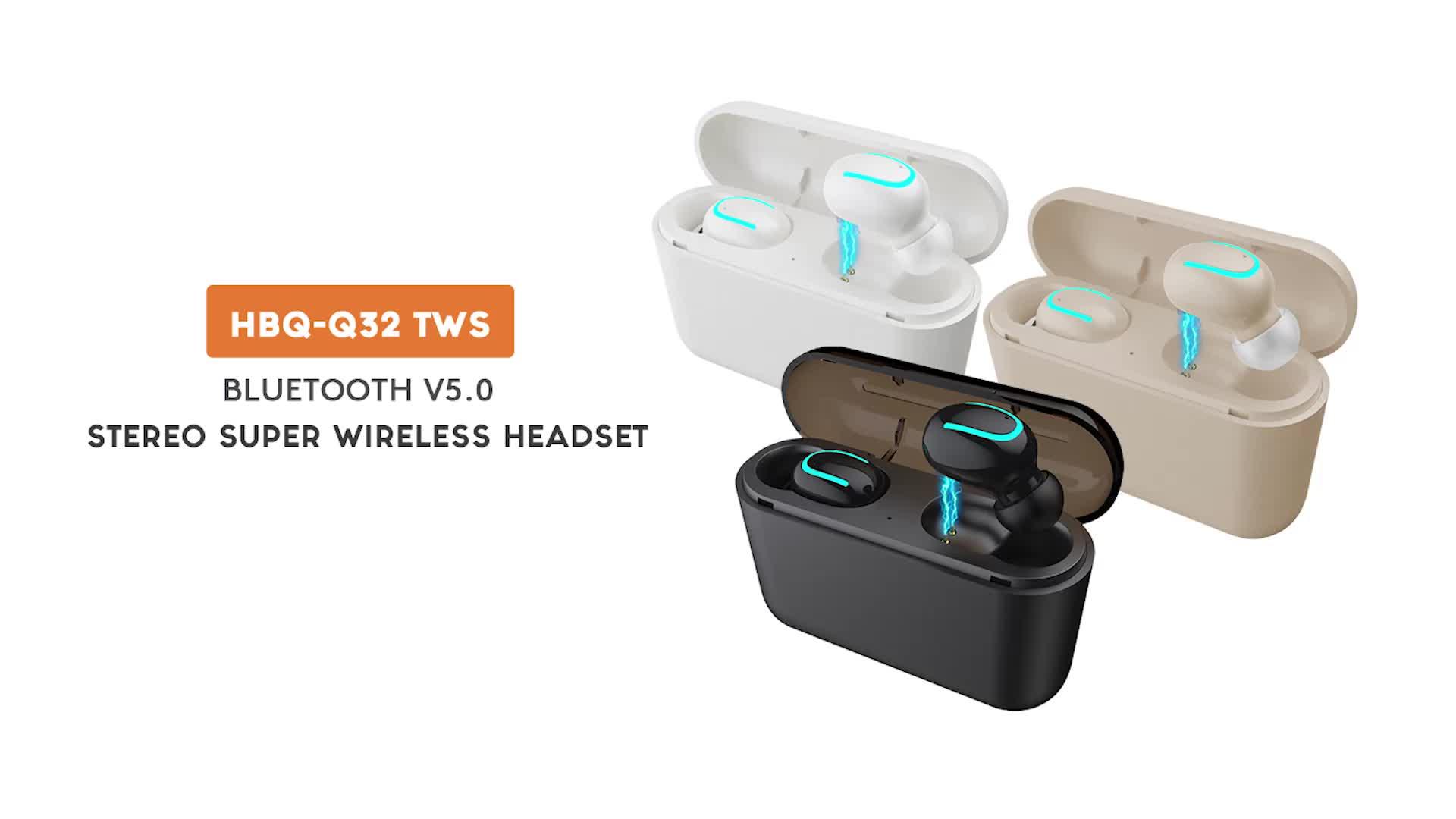 Estéreo Sem Fio do Fone de ouvido Fones de Ouvido BT TWS Dente Azul Fone De Ouvido Sem Fio Fone De Ouvido para telefones Android iPhone