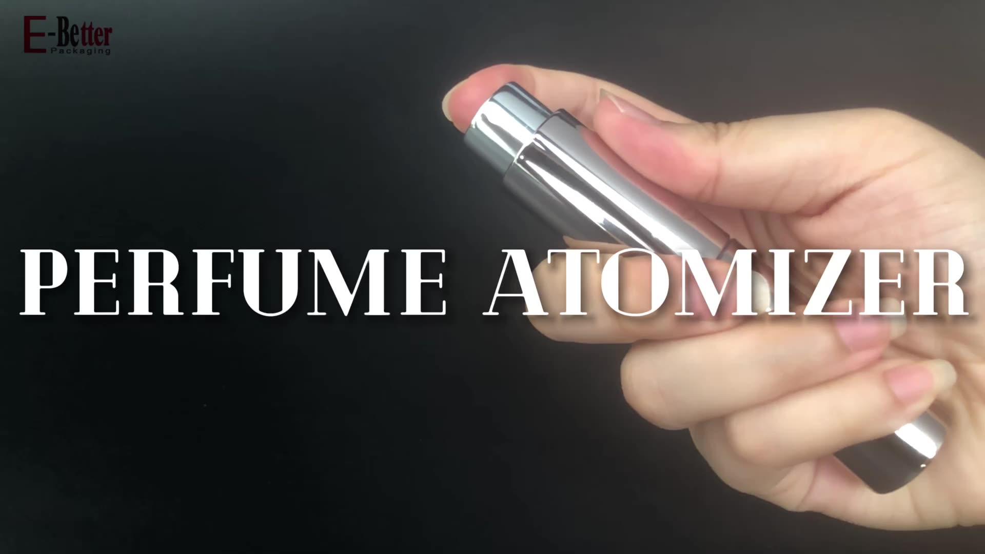 Pena Berbentuk Kosong 8Ml 10Ml Mini Portable Perjalanan Mewah Ukuran Isi Ulang Saku Parfum Pengabut Botol Kaca untuk Semprot
