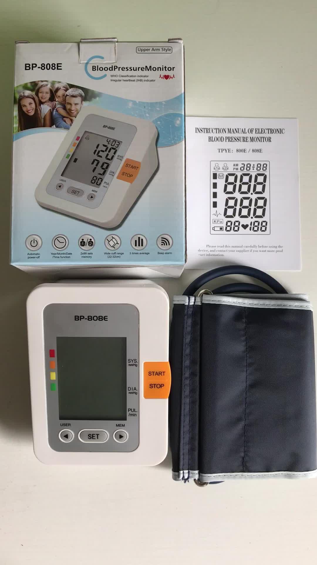 Precio de fábrica automática completa libre digital monitor de presión arterial esfigmomanómetro medidor de presión arterial un monitor de presión arterial