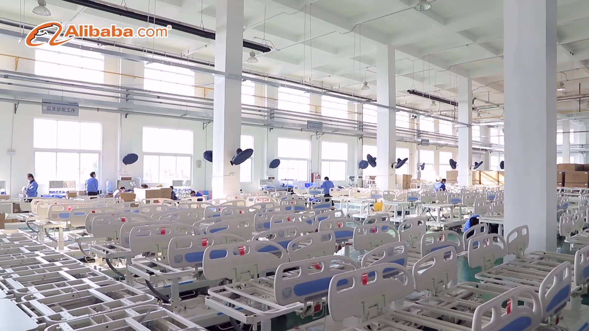 मेडिकल पुस्तिका अस्पताल सोफे तीन क्रैंक रोगी के लिए alluminium siderail धातु अस्पताल के बिस्तर