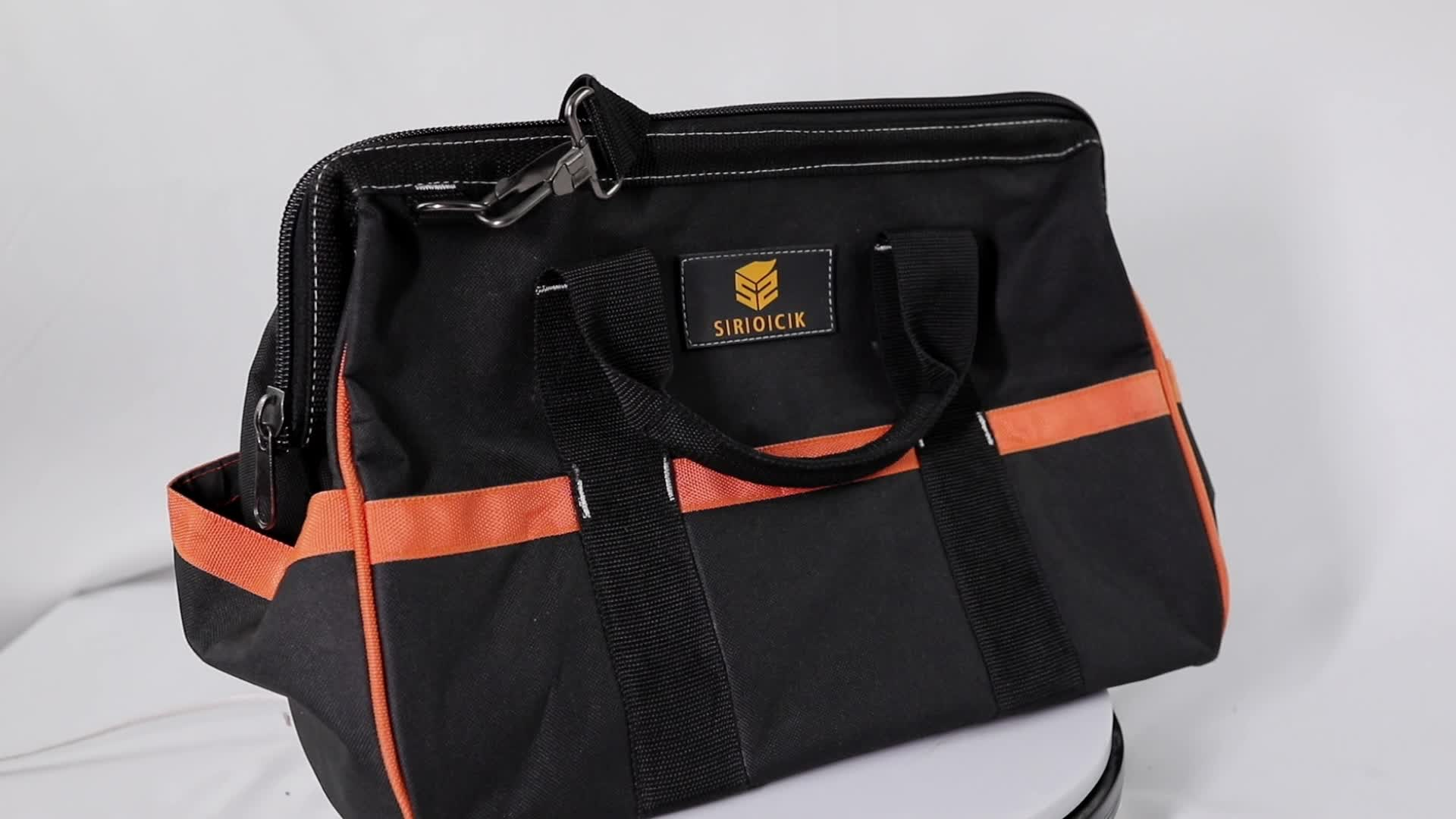 18 inch polyester tool bag with shoulder strap
