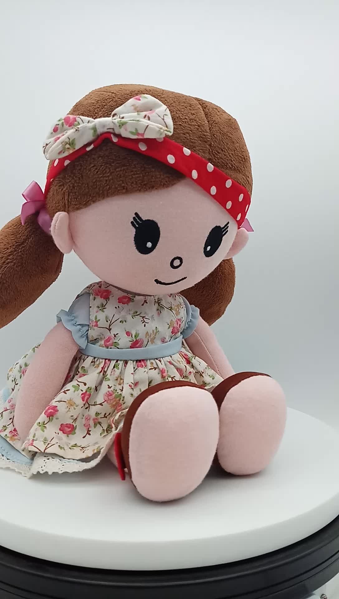 New toys for kids  stuffed soft lovely girl rag doll plush