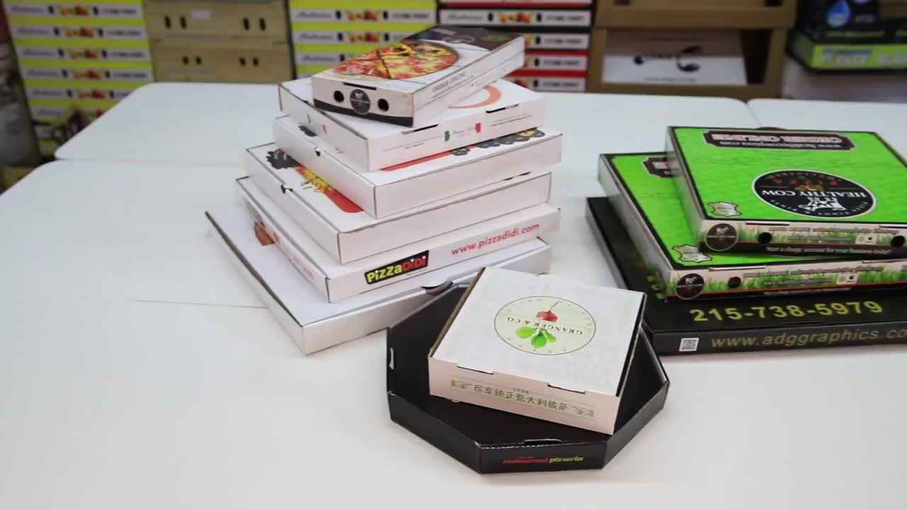 Wholesale custom printing high quality eco-friendly shipping boxes pizza box