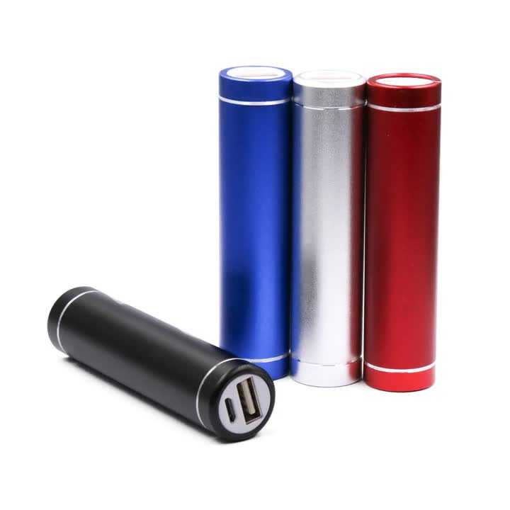 USA free shipping 18650 Battery Power Cell 2600 Mah Rechargeable Portable Power Bank With Keychain