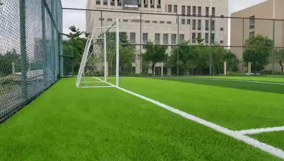 Asher 50 มิลลิเมตร PE 12000d สนามหญ้านุ่มพรมเทียมหญ้าสังเคราะห์ในสนามฟุตบอลพื้นกีฬากว่างโจว
