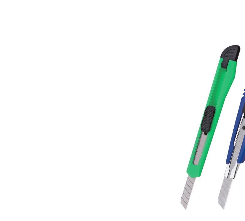 Foska plástico de buena calidad papelería colorido seguridad utilidad cortador de cuchillo