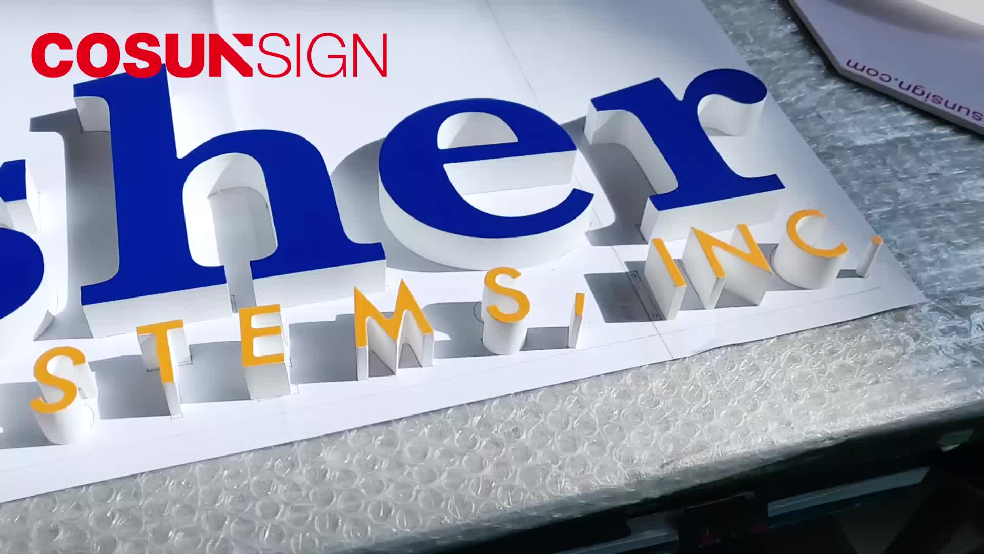 3D Acrylic foild letter with UV print