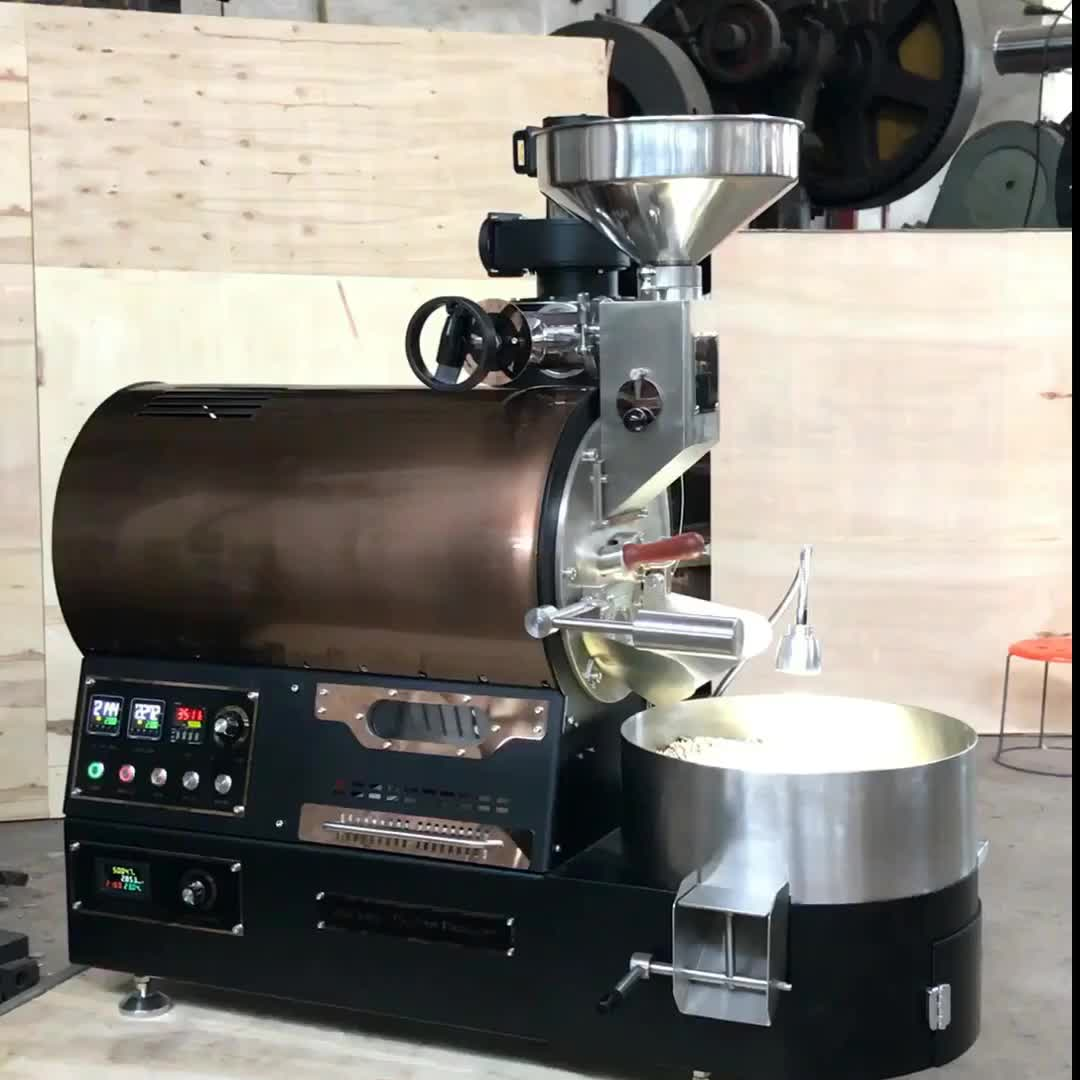 Small Automatic Beans Machine Conventional Commercial Industrial Bean Handle Roaster Coffee ...