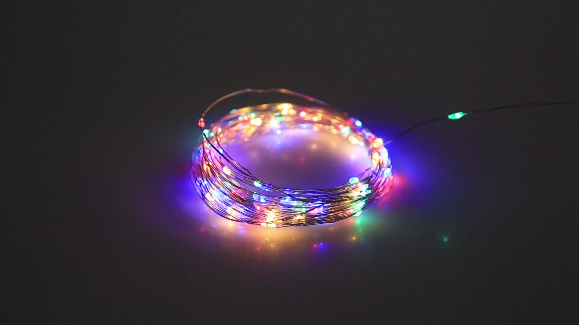 High quality  Christmas decoration  copper led string lights