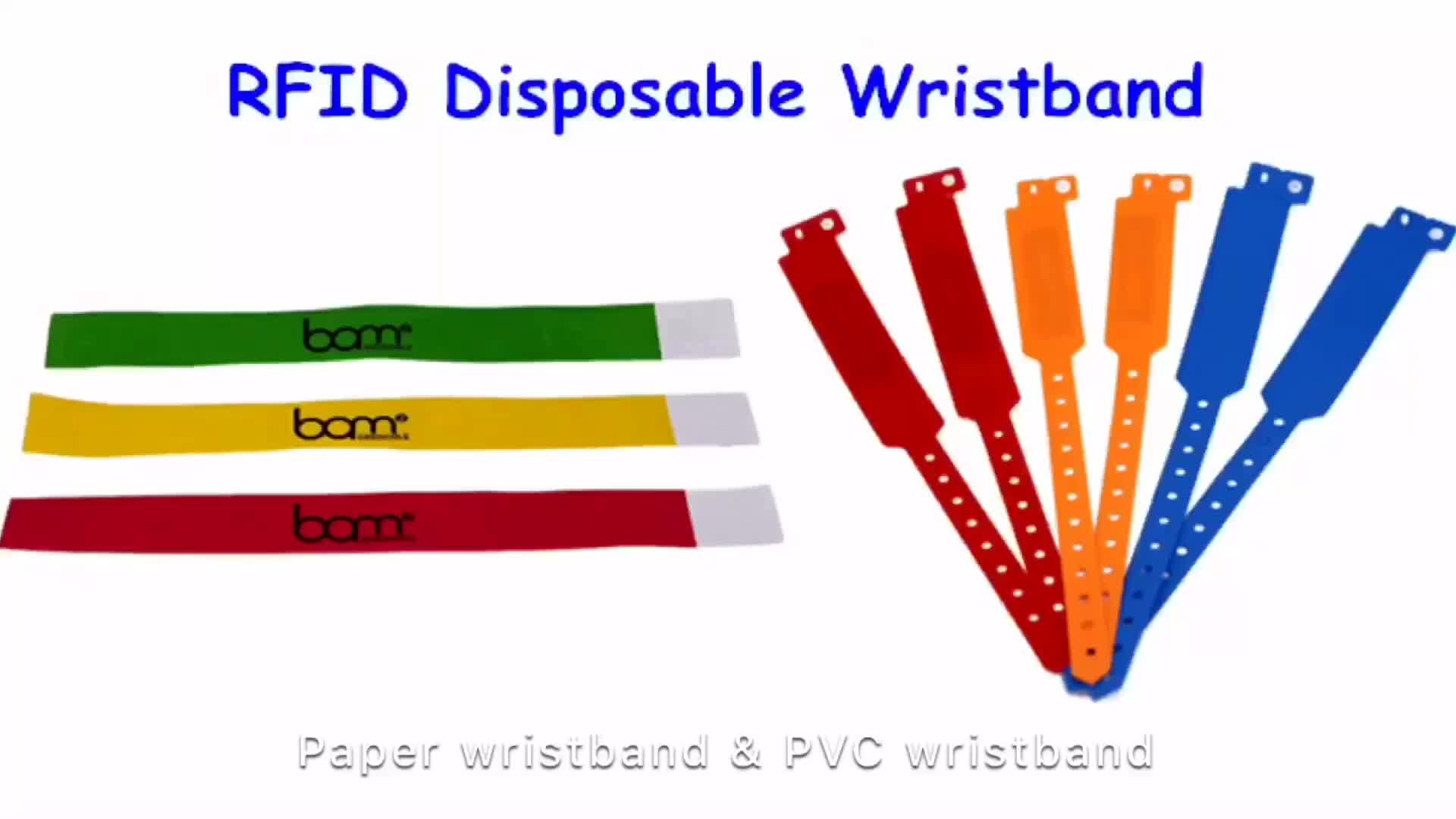 13.56MHz RFID NFC Chip PVC Wristband Printed Vinyl Wristband for Events