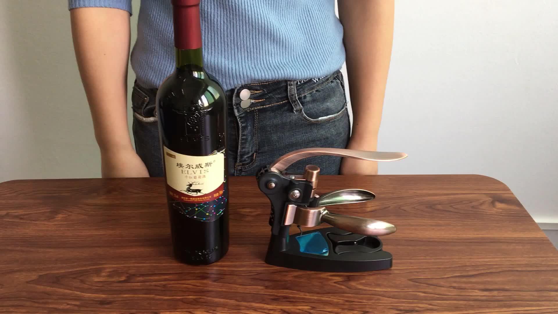 Deluxe 9 Pieces Wooden Box Wine Corkscrew Set Wine Accessory Rabbit Wine Opener Set