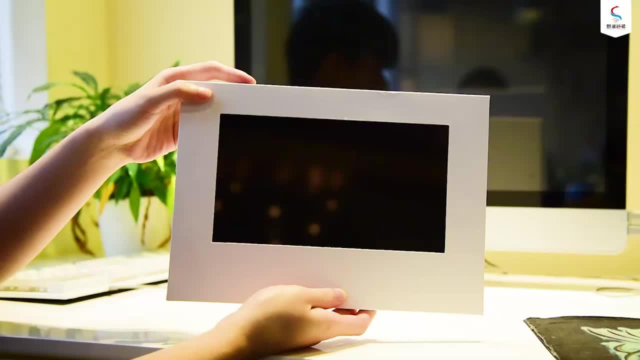 Hot novos produtos brochura de papelão de 10.1 polegadas exibição de publicidade quadro aberto player de vídeo