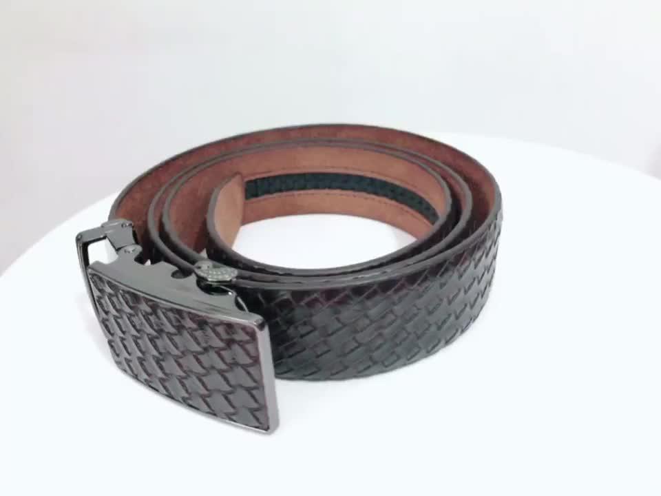 Fashion  Branded Good Leather Formal Dress Ratchet Belt For Man