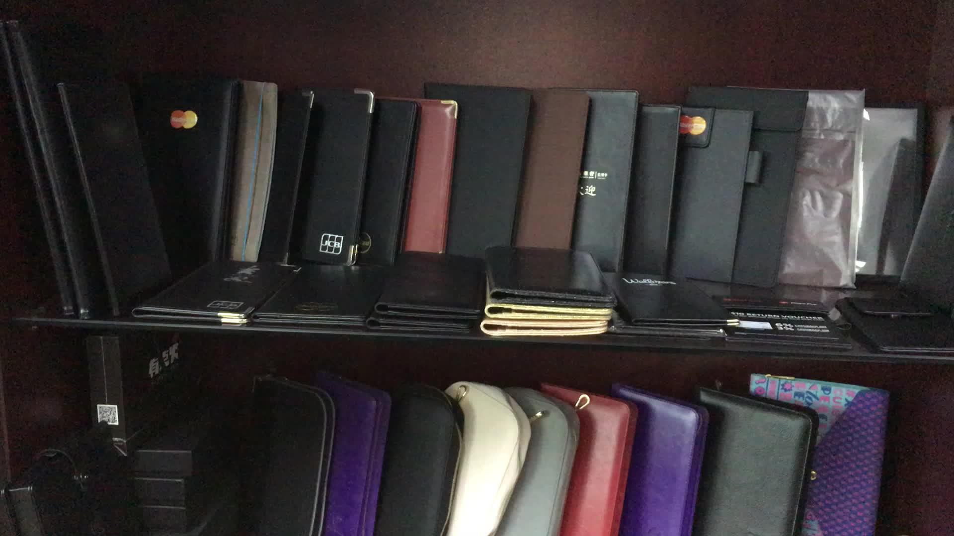 Multifungsi Kulit Bisnis Padfolio Portofolio Arsip Folder A4 Dokumen Tas Organizer Notepad Holder Tas dengan Ritsleting