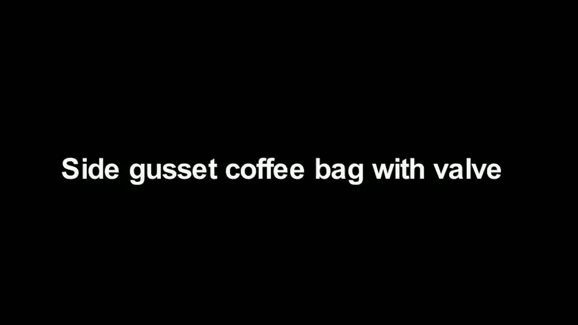 उच्च गुणवत्ता अच्छी बिक्री मैट काले चंगा सील ओर कली कॉफी बैग