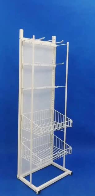 professional factory retail shop fixture steel pipe frame metal wire custom snacks food display rack