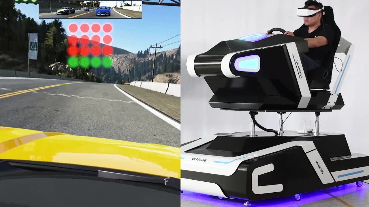 2019 Most Exciting Money Maker Virtual Reality Car Driving Simulator 9D VR Racing Car Game for Amusement Park