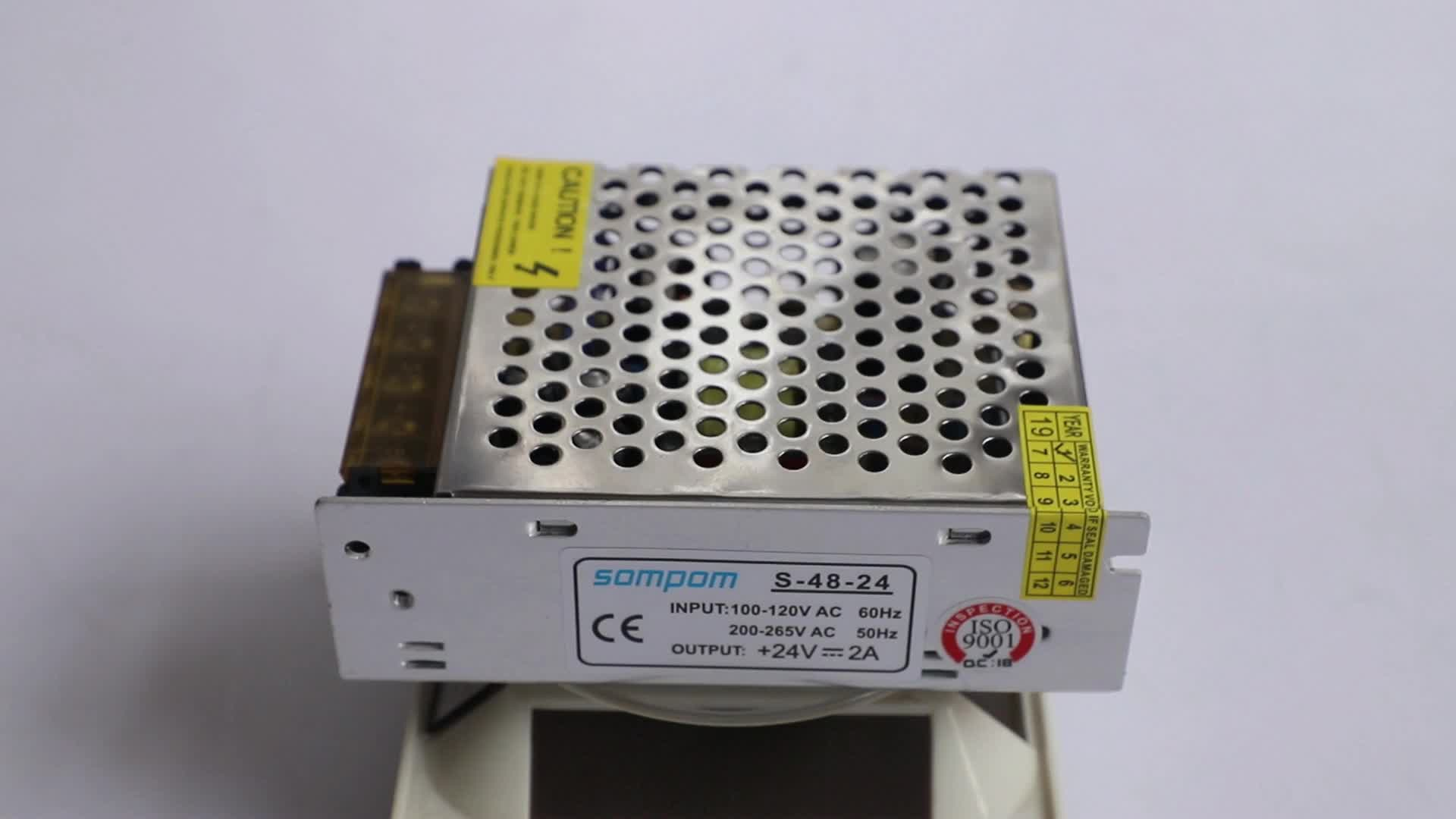 Single Output smps 24v 2a Led Driver 48W Switching Power Supply pcb