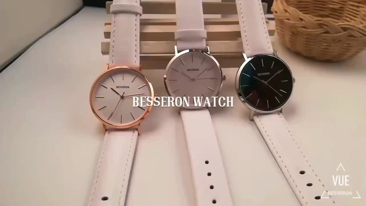 Hot Sale Fashion Japan Movement Water Resistant Feature and Women's Gender Genuine Leather Watch for ladies's wristwatch