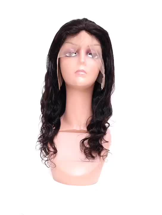 Wholesale virgin cuticle aligned hair cheap human hair lace front wig with baby hair