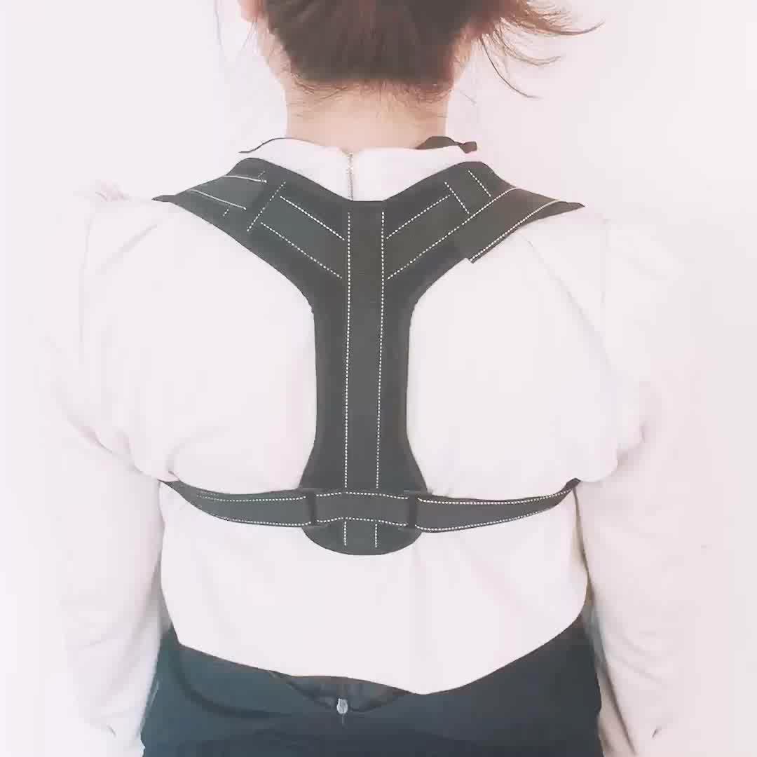 Personalizado colete ajustável para correção de postura corrector ombro suporte brace figura postura parte superior das costas