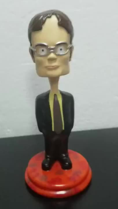 Accept Custom Dwight Bobble Head High Quality Resin Decoration Statue Bobble Head DL-001