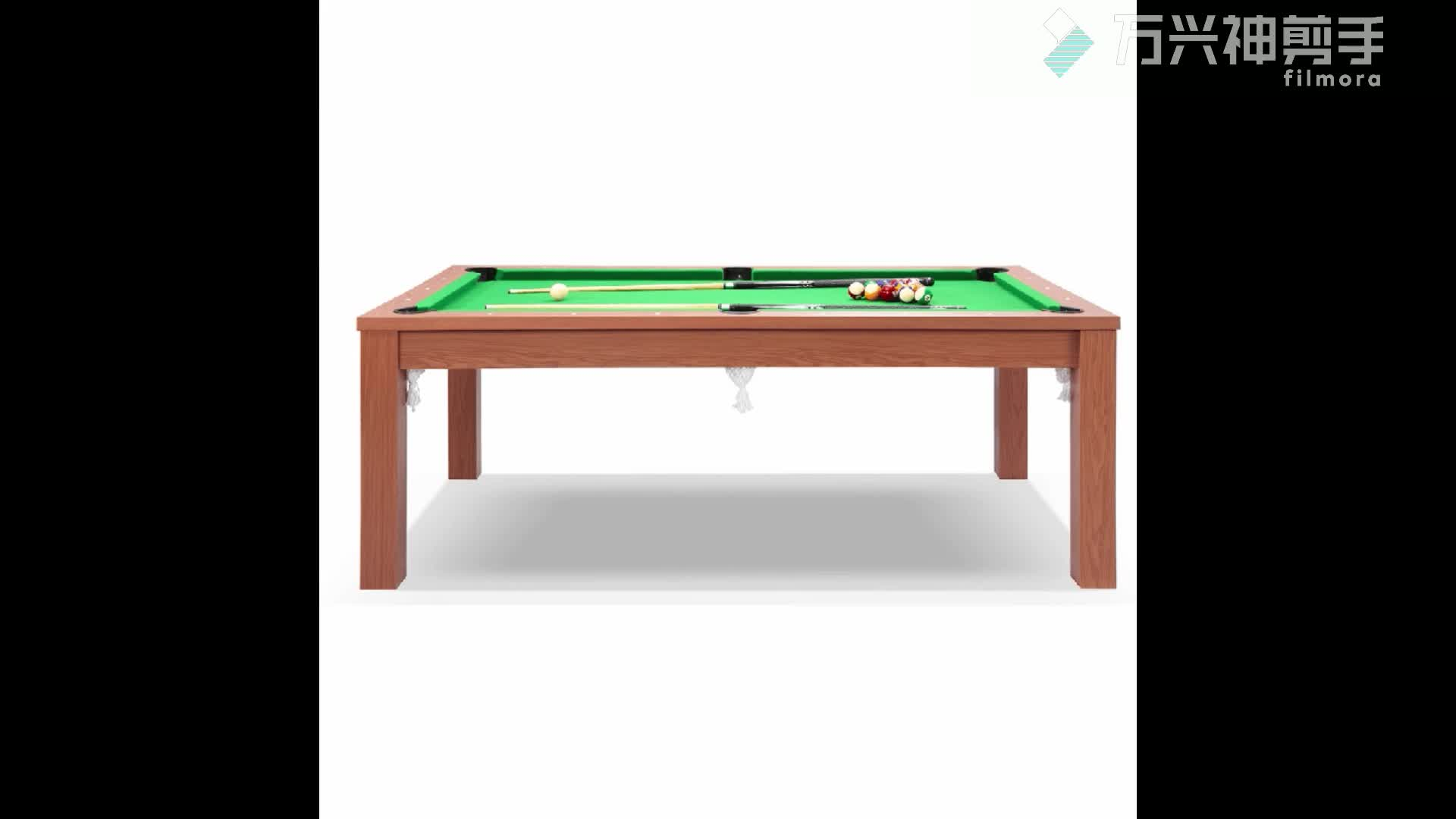 SZX 2in 1  multifunction pool table with dining table top for sales china