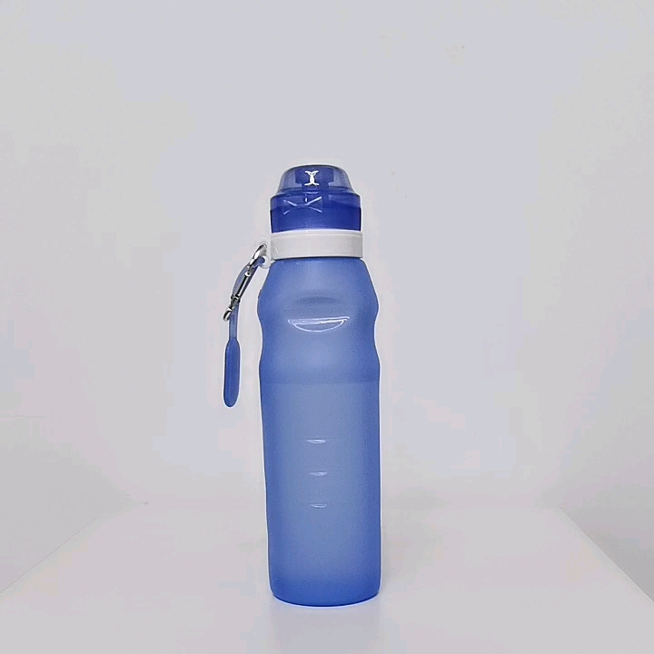 Wholesale Foldable Silicone BPA Free Drinking Collapsible Sport Water Bottle With Custom Logo