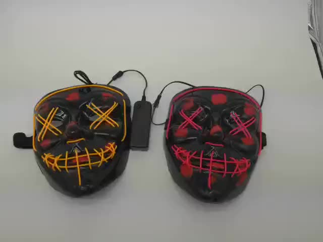 Hot Halloween Neon Masker LED Light up Masker Purge Mask