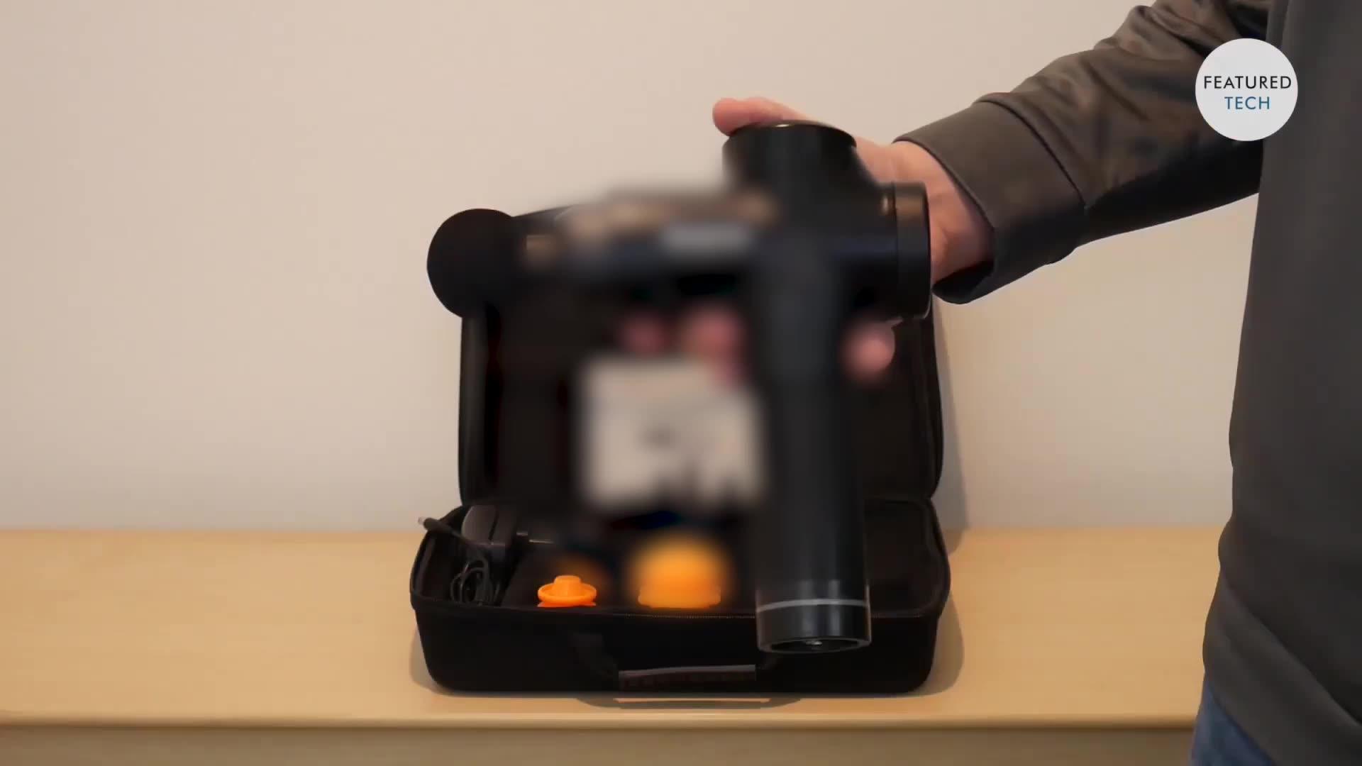 Süper sessiz fırçasız motor derin doku perküsyon kas masajı, el elektrikli vücut masaj aleti tabancası.